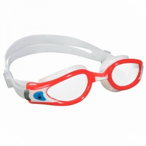 Фото очки для плавания aquasphere kaiman exo  lady red/white прозрачные линзы