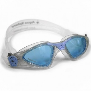 Фото очки для плавания aquasphere kayenne lady glitter/powder blue голубые линзы
