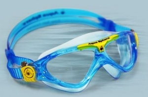 Фото очки для плавания aquasphere vista junior aqua/yellow прозрачные линзы