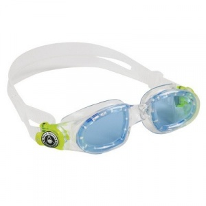 Фото очки для плавания aquasphere moby kid clear/yellow голубые линзы