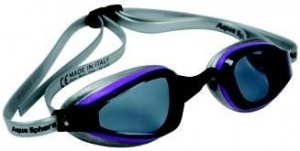 Фото очки для плавания aquasphere k180+ lady purple/gray темные линзы